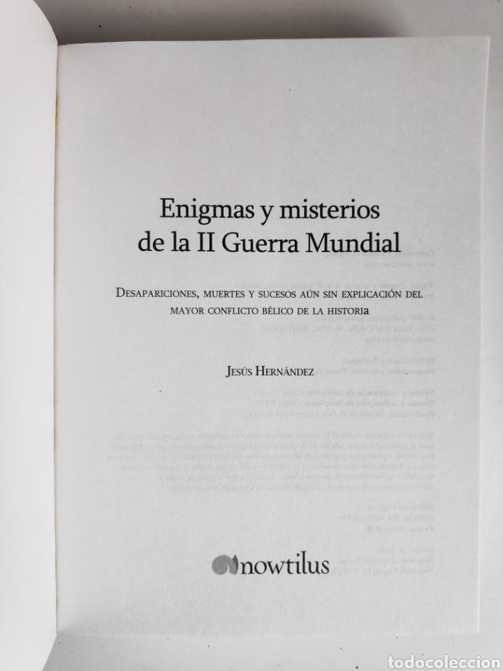 Libros: Libro. Enigmas y Misterios de la Segunda Guerra Mundial. Jesus Hernandez - Foto 3 - 221781293