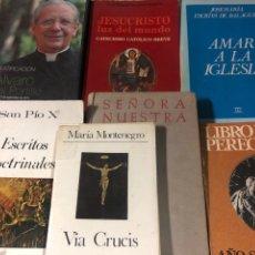 Libros: LOTE DE SEIS LIBROS DE LA IGLESIA Y UN DVD DE ALVARO DEL PORTILLO. Lote 222702782