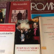 Libros: LOTE DE SEIS LIBROS DE NOVELA RELIGIOSA Y ROMA Y EL VATICANO. Lote 222703272