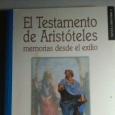 Libros: EL TESTAMENTO DE ARISTÓTELES. ALFREDO MARCOS. EDILESA. 2000. 1A.EDICION DESCATALOGADO. Lote 224669840