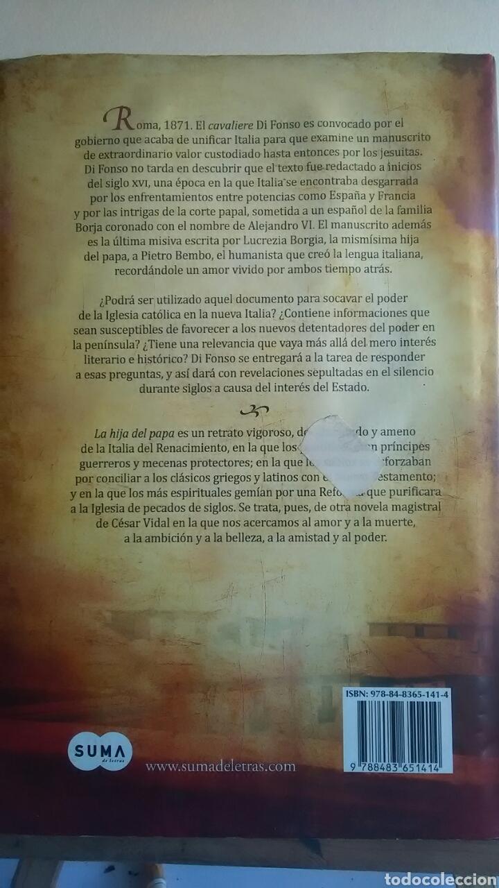 Libros: La hija del Papa. César Vidal. Suma de letras. 2011 - Foto 2 - 231718790