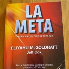 Libros: LA META. UN PROCESO DE MEJORA CONTÍNUA. Lote 276748118