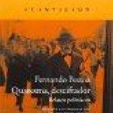 Libros: QUARESMA, DESCIFRADOR: RELATOS POLICÍACOS FERNANDO PESSOA GASTOS DE ENVIO GRATIS. Lote 210410606