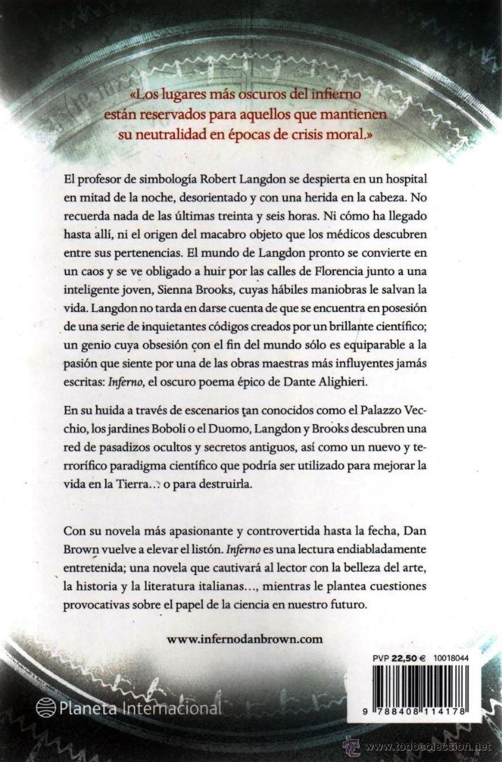 Libros: INFERNO de DAN BROWN - PLANETA, 2013 - Foto 2 - 57407946