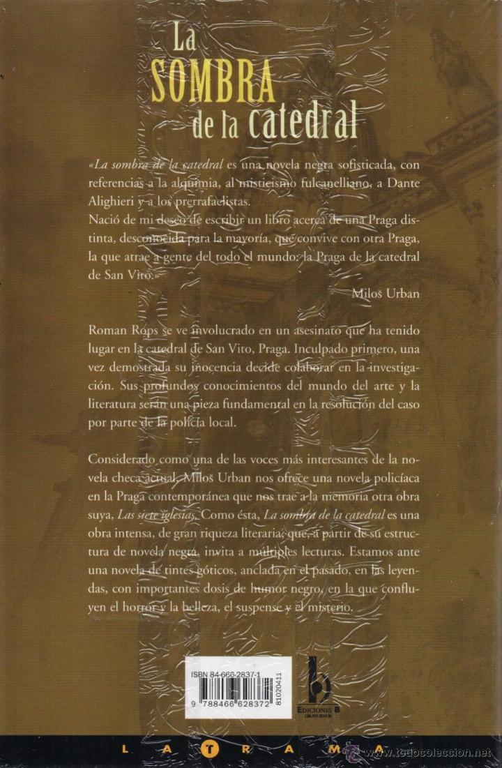 Libros: LA SOMBRA DE LA CATEDRAL de MILOS URBAN - EDICIONES B (PRECINTADO) - Foto 2 - 53380108