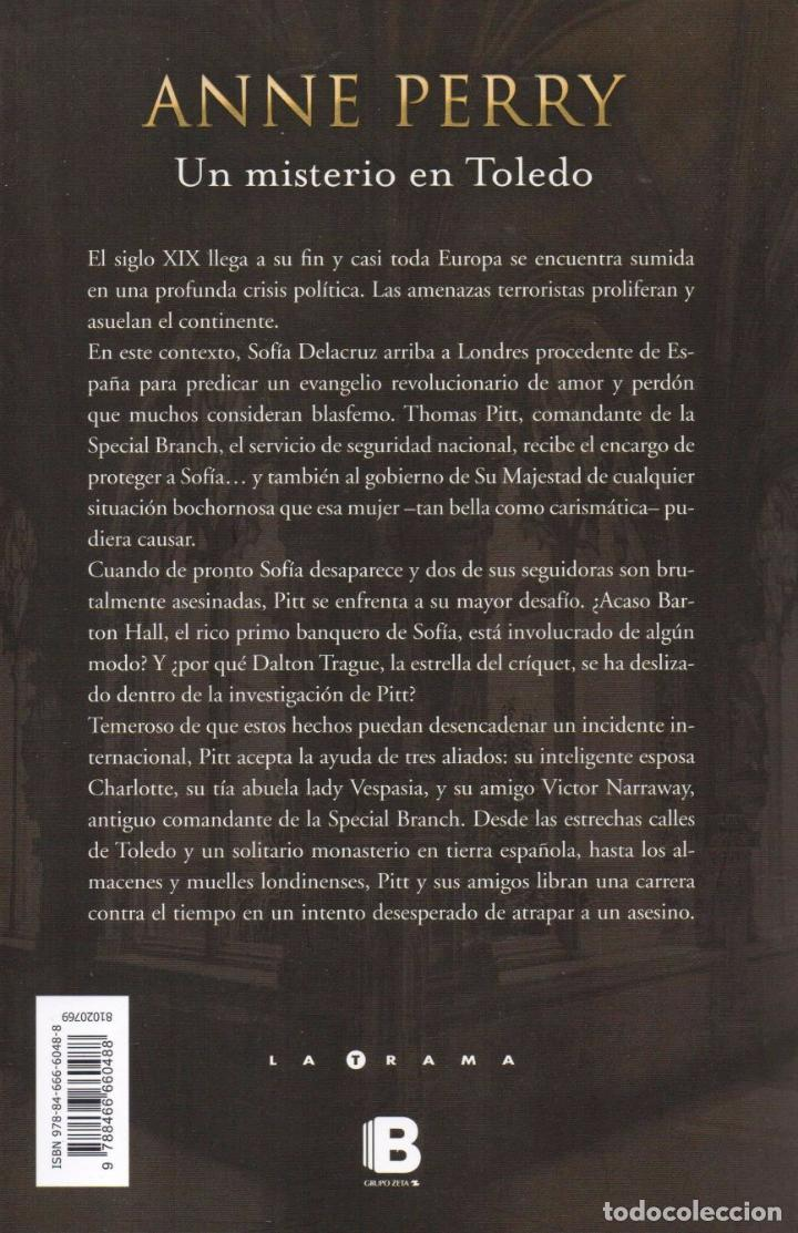 Libros: UN MISTERIO EN TOLEDO de ANNE PERRY - EDICIONES B, 2017 (NUEVO) - Foto 2 - 81163680