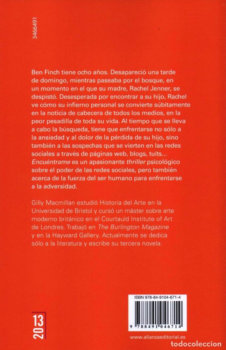 Libros: ENCUENTRAME de GILLY MACMILLAN - ALIANZA EDITORIAL, 2017 - Foto 2 - 100647287