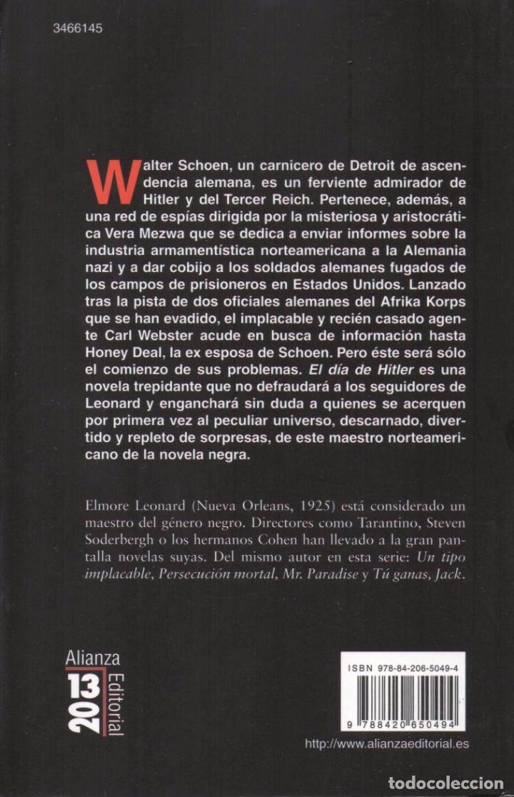 Libros: EL DIA DE HITLER de ELMORE LEONARD - ALIANZA EDITORIAL, 2011 - Foto 2 - 100647991