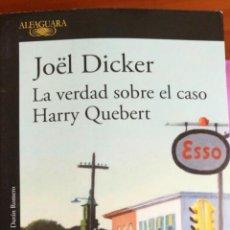 Libros: LIBRO MISTERIO LA VERDAD SOBRE EL CASO HARRY QUEBERT. Lote 106825948