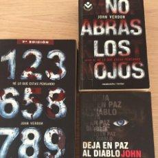 Libros: 3 LIBROS DE JOHN VERDON - PERFECTO ESTADO. Lote 132377975