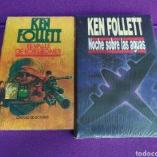Libros: EL VALLE DE LOS LEONES - NOCHE SOBRE LAS AGUAS. KEN FOLLET LOTE.. Lote 135680618