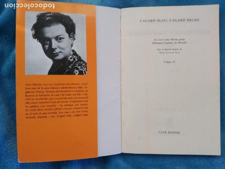 Libros: S´AGARO BLAU. S´AGARO NEGRE- NURIA MINGUEZ- CLUB EDITOR ANY 1992- CATALÁ - Foto 2 - 141825698