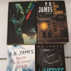 Libros: 4 NOVELAS. P.D. JAMES. NOVELA POLICIACA.. Lote 153831592