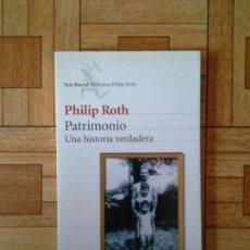 Libros: PHILIP ROTH - PATRIMONIO. Lote 171403567