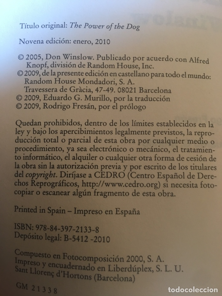 Libros: El poder del perro de Don Winslow - Foto 3 - 175249708