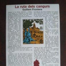 Libros: LA RUTA DELS CANGURS. LA NOVELA RETRATA UNA SOCIEDAD MALLORQUINA INDUSTRIALIZADA CULTURAL. Lote 183016415