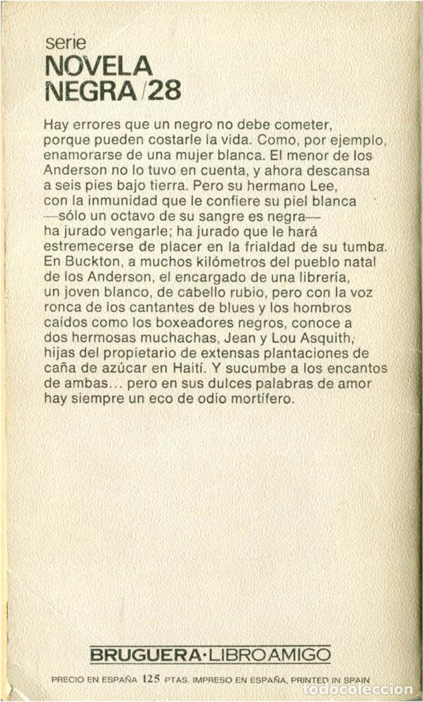 Libros: Boris Vian - Escupire sobre vuestra tumba - Bruguera libro amigo, serie novela negra 28 - BCN 1979 - Foto 2 - 190087531