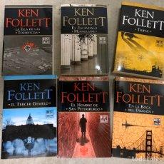 Libros: LOTE KEN FOLLET 6 LIBROS NUEVOS. Lote 193968027