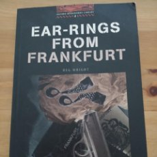 Libros: LIBRO EAR-RINGS FROM FRANKFURT. Lote 203612835