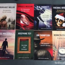 Libros: GRANDES CLÁSICOS DE LA NOVELA NEGRA - W.R.BURNET - JIM THOMPSON - FREDERIC BROWN - WESTLAKE - 8 LIBR. Lote 203673695