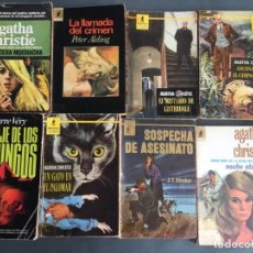 Libros: PACK NOVELA NEGRA - BIBLIOTECA DE ORO - POLICIACA - 8 LIBROS - AGATHA CHRISTIE - STRAKER - ALDING. Lote 203712258