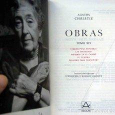Libros: OBRAS AGATHA CHRISTIE. TOMO 14 - EDITORIAL AGUILAR. COLECCIÓN EL LINCE ASTUTO,1979. Lote 206200300