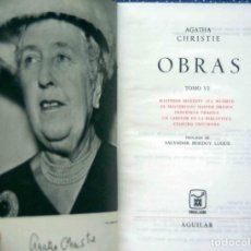 Libros: OBRAS AGATHA CHRISTIE. TOMO 6 - EDITORIAL AGUILAR, COLECCIÓN EL LINCE ASTUTO - 4ª EDICIÓN, 1973.. Lote 206206790