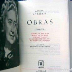 Libros: OBRAS AGATHA CHRISTIE. TOMO 7 - EDITORIAL AGUILAR, COLECCIÓN EL LINCE ASTUTO. 3ª EDICIÓN, 1973.. Lote 206208695