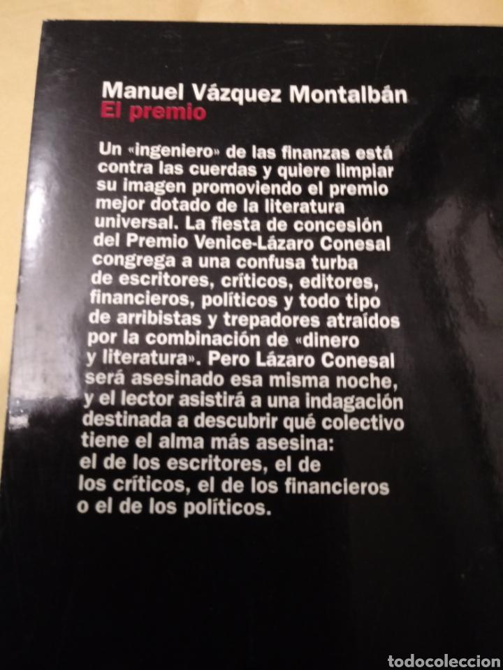 Libros: El premio de Manuel Vazquez Montalban.Planeta 2001. - Foto 2 - 215828201