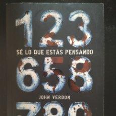 """Libros: """"SE LO QUE ESTAS PENSANDO"""" LIBRO DE BOLSILLO. NOVELA POLICIACA. JOHN VERDON. Lote 218194990"""