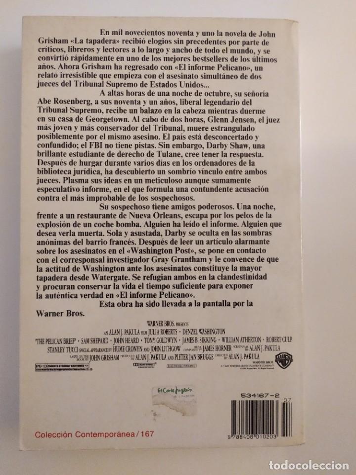 Libros: El informe Pelícano John Grisham - Foto 2 - 218619683
