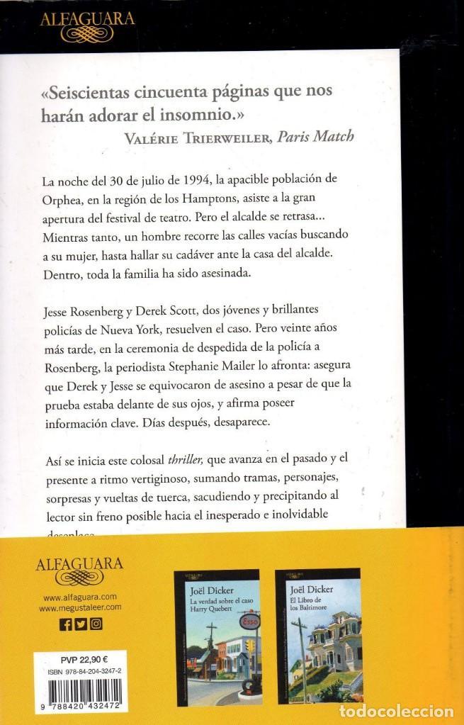 Libros: LA DESAPARICION DE STEPHANIE MAILER de JOEL DICKER - ALFAGUARA, 2018 (NUEVO) - Foto 2 - 222468053