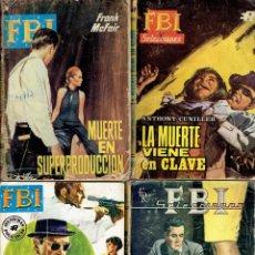 Libros: 29 NOVELAS POLICICAS DEL FBI,EDITORIAL ROLLAN AÑOS 1957 - 1971. Lote 222573671