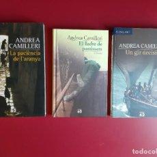 Libros: LOTE DE 3 LIBROS ANDREA CAMILLERI -(1ES. EDICIONS - EN CATALA). Lote 223113433