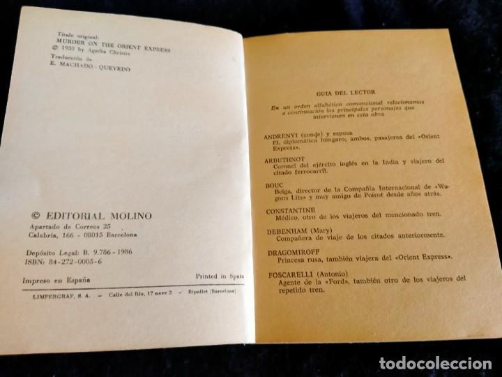 Libros: Asesinato en el Orient Express Agatha Christie.Lb3 - Foto 2 - 225236550