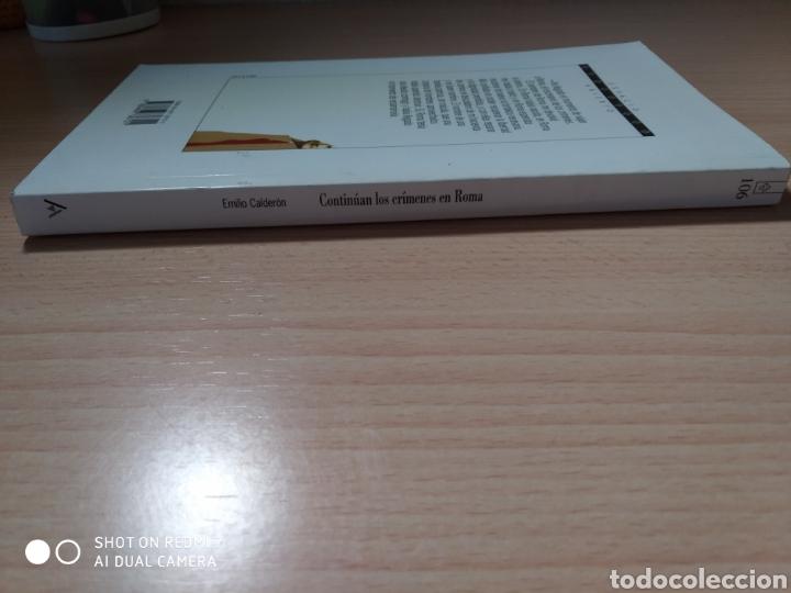 Libros: Continúan los crímenes en Roma. Emilio Calderón. Nuevo - Foto 4 - 226410295