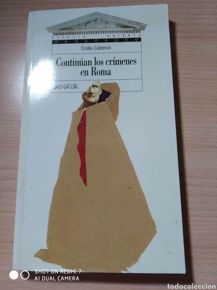 CONTINÚAN LOS CRÍMENES EN ROMA. EMILIO CALDERÓN. NUEVO (Libros Nuevos - Literatura - Narrativa - Novela Negra y Policíaca)