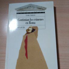 Libros: CONTINÚAN LOS CRÍMENES EN ROMA. EMILIO CALDERÓN. NUEVO. Lote 226410295