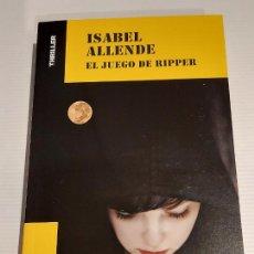 Libros: EL JUEGO DE RIPPER / ISABEL ALLENDE / COLECCIÓN THRILLER / NUEVO. Lote 227990645