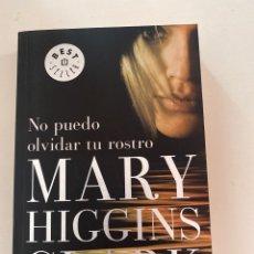 Libros: NO PUEDO OLVIDAR SU ROSTRO MARY HIGGINS CLARK. Lote 246252315