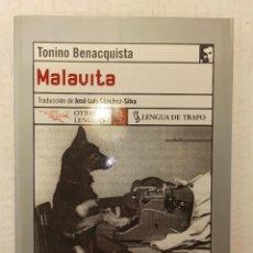 "Libros: ""MALAVITA"" DE TONINO BENACQUISTA (2005) EDIT. LENGUA DE TRAPO. Lote 248443305"