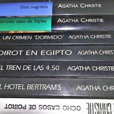 Libros: 7 NOVELAS DE AGATHA CHRISTIE. Lote 255381355
