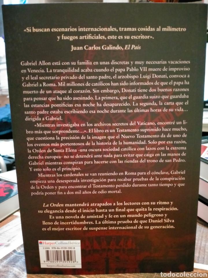 Libros: DANIEL SILVA. LA ORDEN. (UN CASO DE GABRIEL ALLON). HARPERCOLLINS - Foto 2 - 257346820