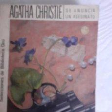 Libros: SE ANUNCIA UN ASESINATO - AGATHA CHRISTIE. Lote 258196195
