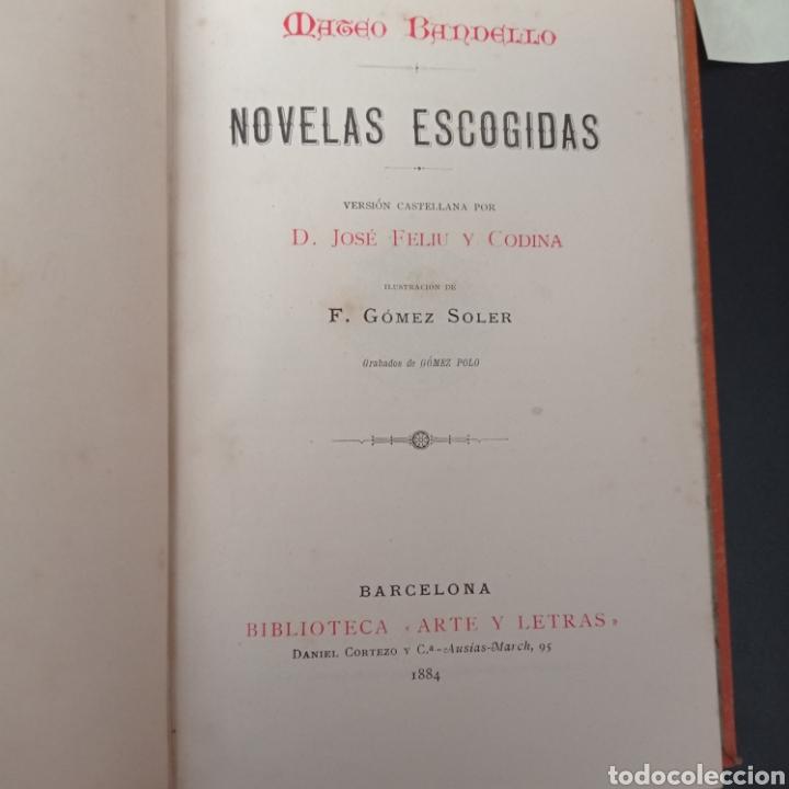Libros: BANDELLO. , NOVELAS ESCOGIDAS , TAPA DURA , VER FOTOS - Foto 5 - 260746280