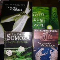 Libros: JOSE CARLOS SOMOZA: LA LLAVE DEL ABISMO, ZIG ZAG, LA CAJA DE MARFIL, LA CAVERNA DE LAS IDEAS. Lote 261611750