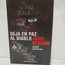 Libros: DEJA EN PAZ AL DIABLO DE JOHN VERDON. Lote 261631395