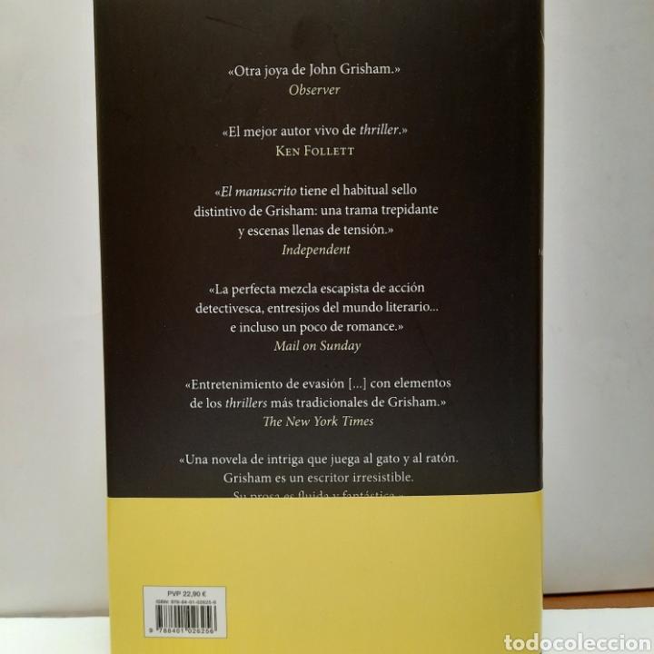 Libros: El manuscrito de John Grisham. NUEVO. - Foto 2 - 266972169