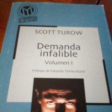 Libros: DEMANDA INFALBLE - SCOTT TURROW (2 VOLÚMENES). Lote 267753639