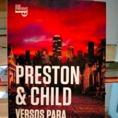Livres: PRESTON & CHILD. VERSOS PARA UN MUERTO.( UN CASO DEL AGENTE ESPECIAL PENDERGAST, 18).PLAZA JANES. Lote 268174639